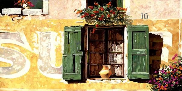 Художник Гвидо Борелли в своих теплых и по-настоящему эмоциональных картинах изображает пейзажи самого сердца Италии Тоскану Его картины, как будто говорят всем нам, что нужно жить и