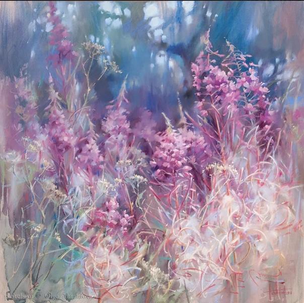 Чудесные картины пастелью художницы Ольги Абрамовой.