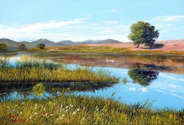 Картины корейского художника Кан Юнг Хо «пахнут» осенью, весной и разнотравьем
