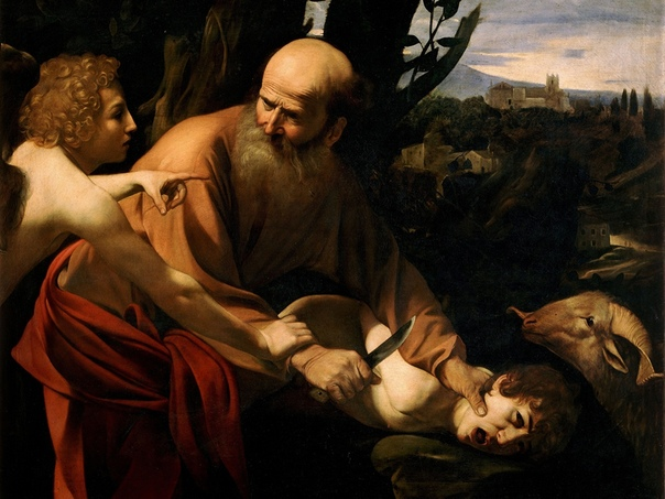 «Принесение в жертву Исаака», Микеланджело Меризи да Караваджо 16011602гг. Холст, масло. Размер: 104x135 см. Галерея Уффици. ФлоренцияКартина была написана для кардинала Маффео Барберини, чьим