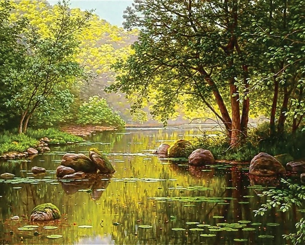 Французский художник Рене Шарль Эдмон Хис (Rene Charles Edmond His 1877  1955).
