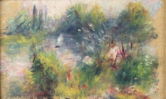 «Пейзаж на берегу Сены», Пьер Огюст Ренуар