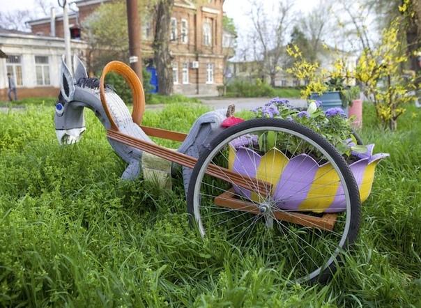 Поделки из шин для сада и огорода своими руками.