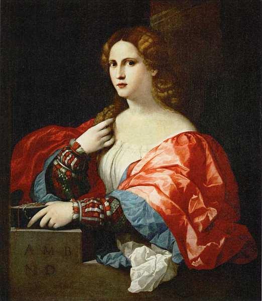 «Портрет молодой женщины (La Bella)», Якопо Пальма Старший