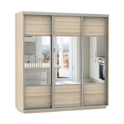Шкаф Экспресс Комби трио (фасад зеркало) ш 1800