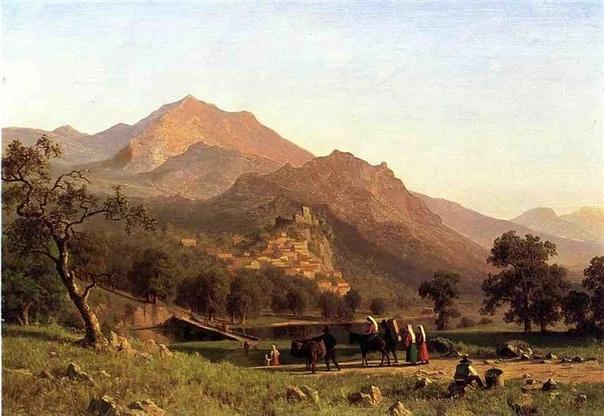Один из известнейших пейзажистов 19 века Альберт Бирштадт родился в Германии в 1830 году. Получил художественное образование в Дюссельдорфской школе живописи. Для этого возвращался в Германию из