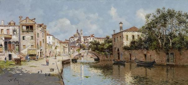 Антонио Мария де Рейна Манеско (Antonio María de Reyna Manescau, 1859-1937 испанский художник, один из последних в длинном списке мастеров ведуты.Известен картинами с видами