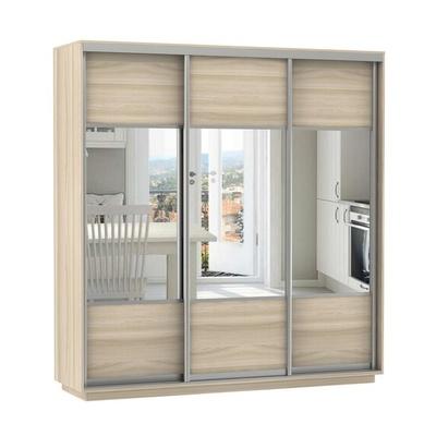 Шкаф Экспресс Комби трио (фасад зеркало) ш 2400