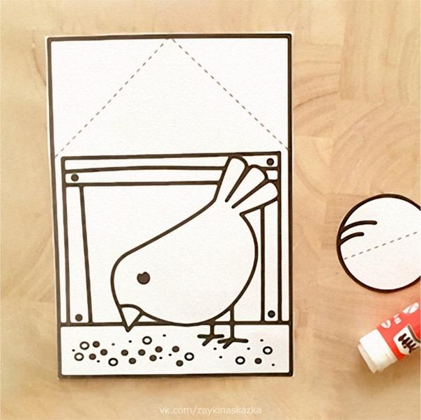 КОРМУШКА ДЛЯ ПТИЧКИ Простая поделка из бумаги для малышей
