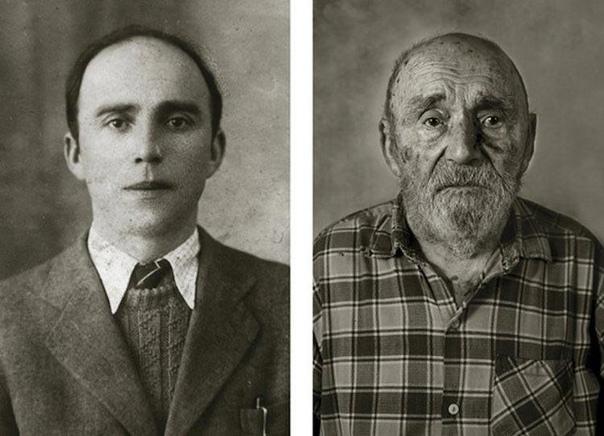 Фотопроект, показывающий людей в молодом возрасте и после того, как им исполнилось 100 лет