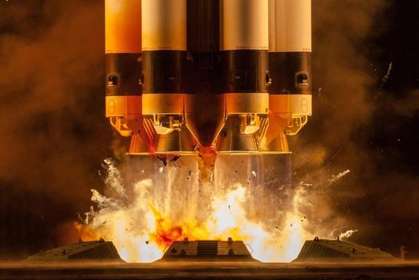 Перед вами  фотография с пуска ракеты-носителя «Протон-М», который состоялся 31 июля с космодрома Байконур
